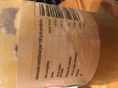 Postre - Ingredientes