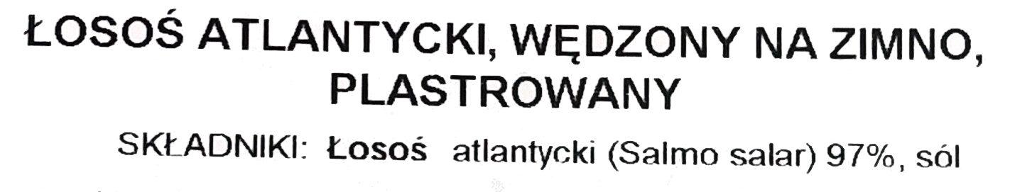 Łosoś atlantycki, wędzony na zimno, plastrowany - Składniki - pl