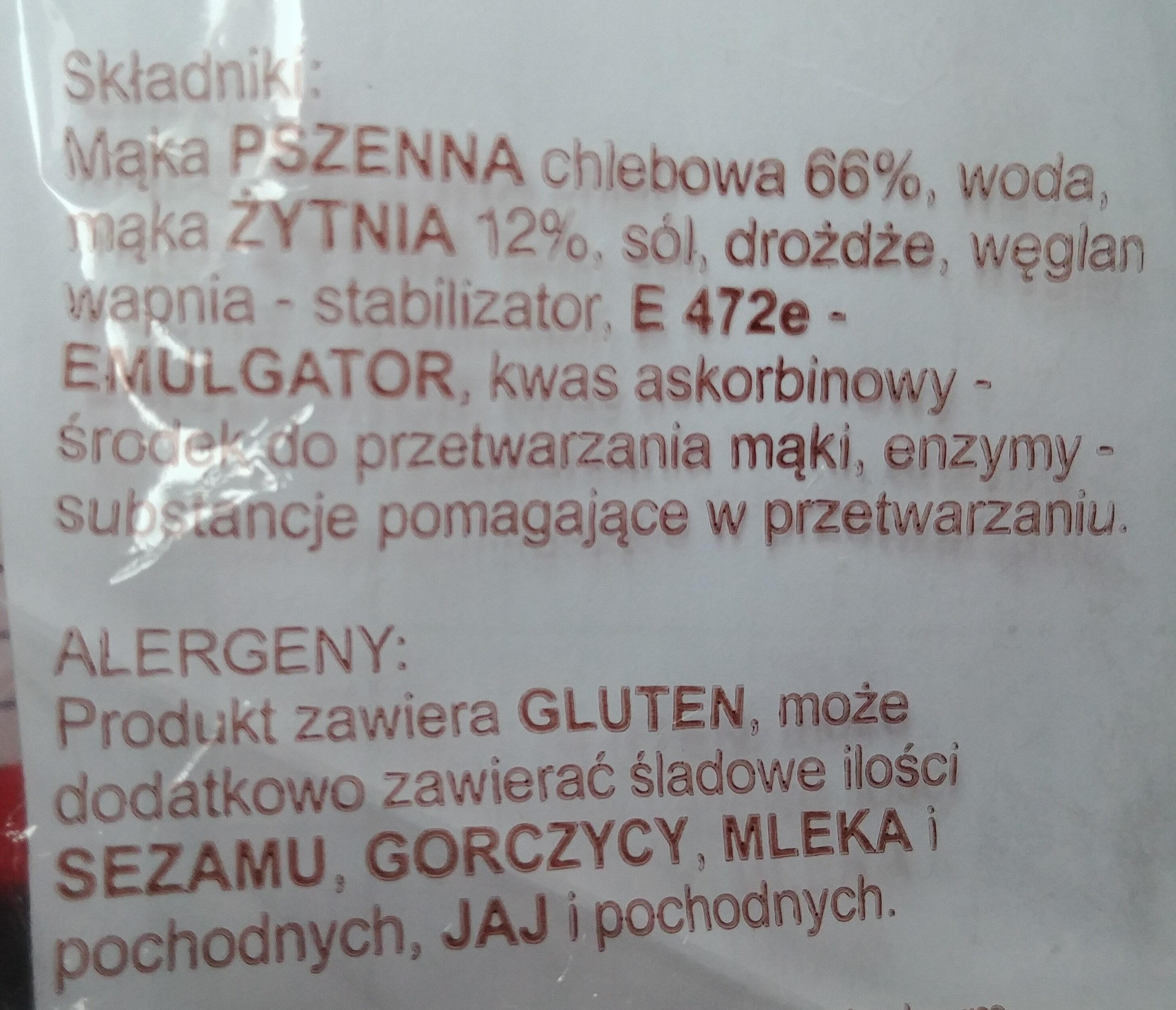 Chleb pszenno-żytni - Składniki - pl