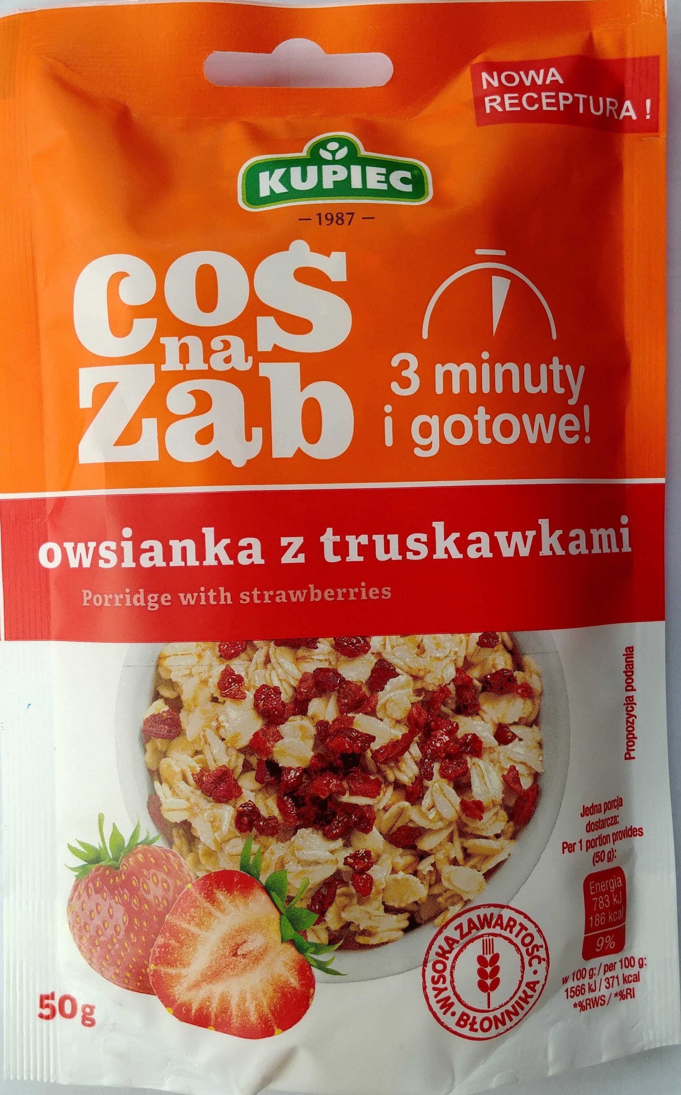 Owsianka z truskawkami - Produkt - pl