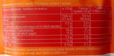 Owsianka z truskawkami - Wartości odżywcze - pl