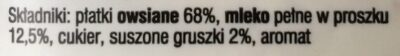 Owsianka - Składniki - pl