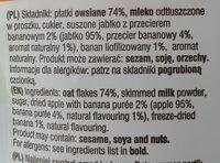 Owsianka z jabłkiem i bananem - Składniki