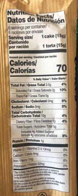 Kupiec Rice Cakes In Dark Chocolate - Valori nutrizionali - fr