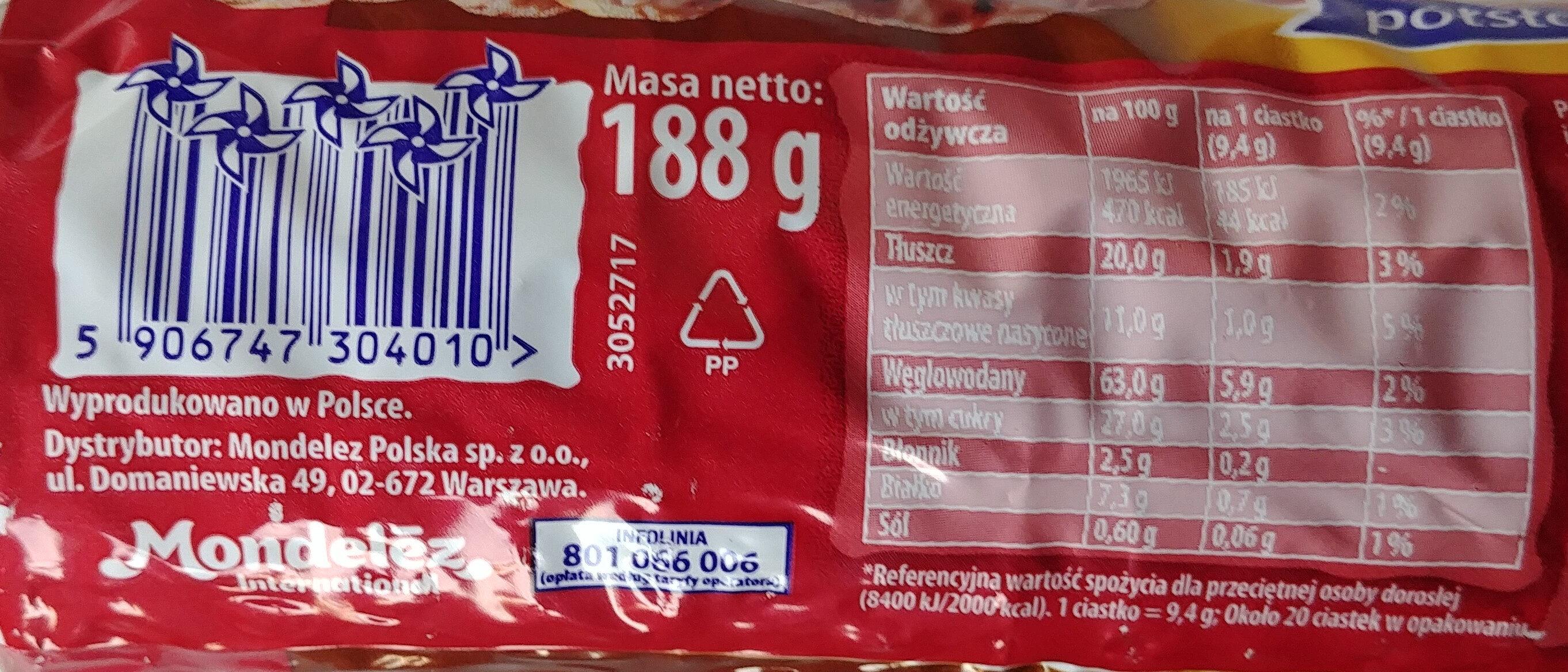 Herbatniki oblane czekoladą mleczną. - Wartości odżywcze - pl