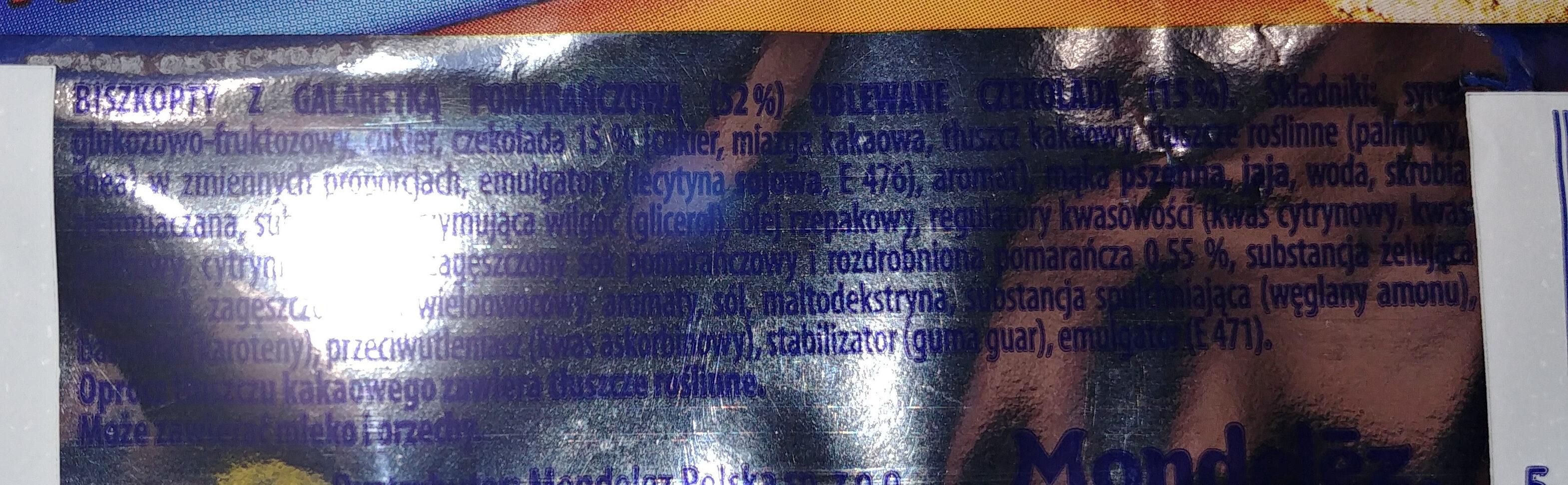Delicje Szampańskie pomarańczowe - Ingredients - pl