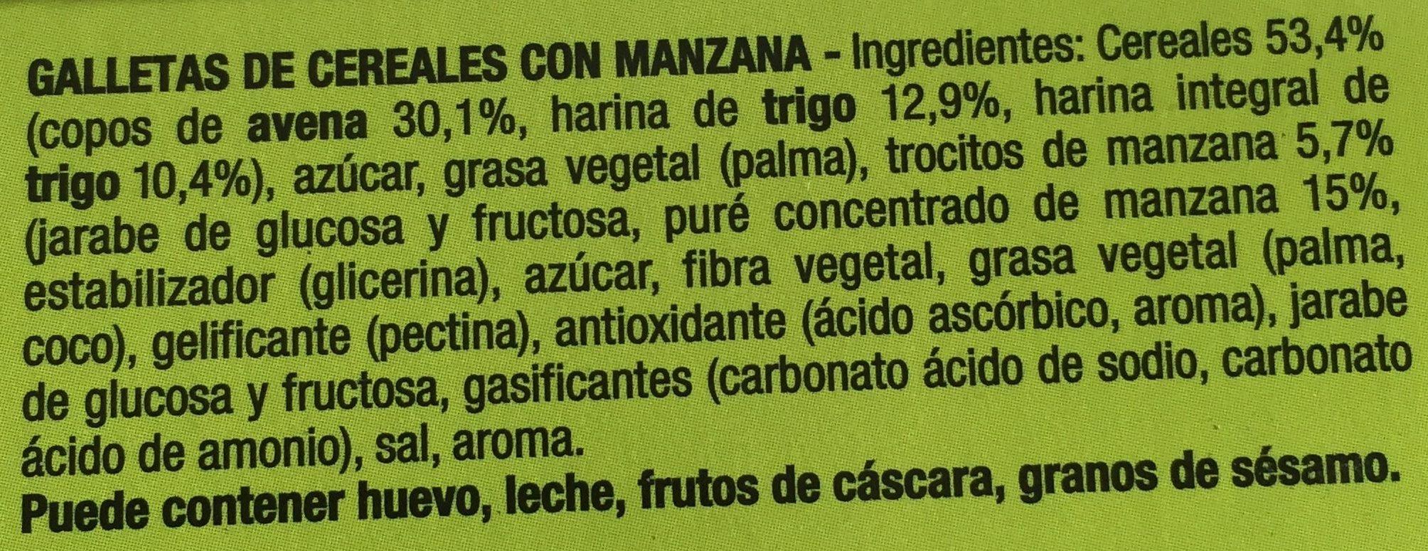 Digestive Go - Fontaneda - 171 Grammes (6x2galletas) - Ingredientes - es