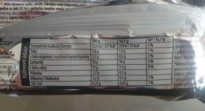 Čoko piškoty s příchutí lesního ovoce - Nutrition facts - cs