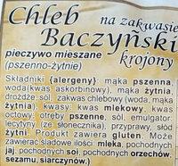 Chleb Baczyński na zakwasie krojony. - Składniki - pl