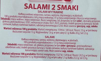 Salami 2 smaki. (Salami wytrawne, Salami) - Ingrediënten - pl