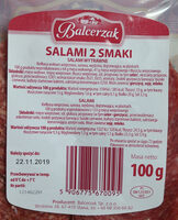 Salami 2 smaki. (Salami wytrawne, Salami) - Voedingswaarden - pl