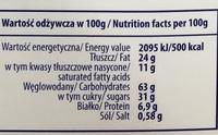 La Crema Black - Nutrition facts