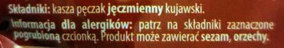 Pęczak Kujawski - Składniki