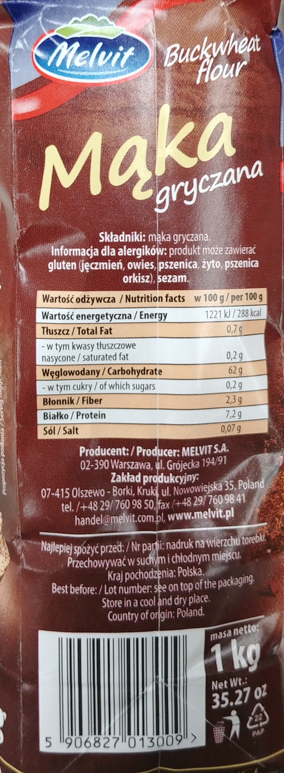 Mąka gryczana - Ingrédients - pl