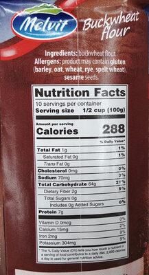 Mąka gryczana - Informations nutritionnelles - pl