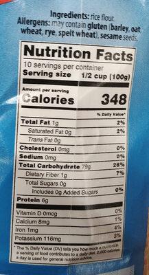 - Informations nutritionnelles - pl