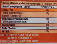 Siemię lniane - Informations nutritionnelles
