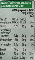 Płatki owsiane Górskie - Informations nutritionnelles - pl