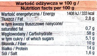 TRENDY LUNCH Premium Orkisz, Vermicelli, Pomidory - Wartości odżywcze - pl