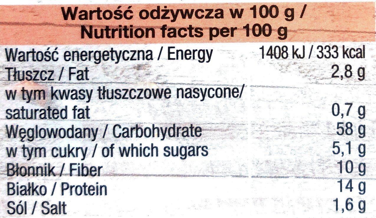 TRENDY LUNCH Premium Orkisz, Vermicelli, Pomidory - Wartości odżywcze