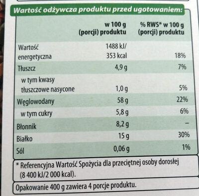Kasza gryczana prażona - Informazioni nutrizionali - pl