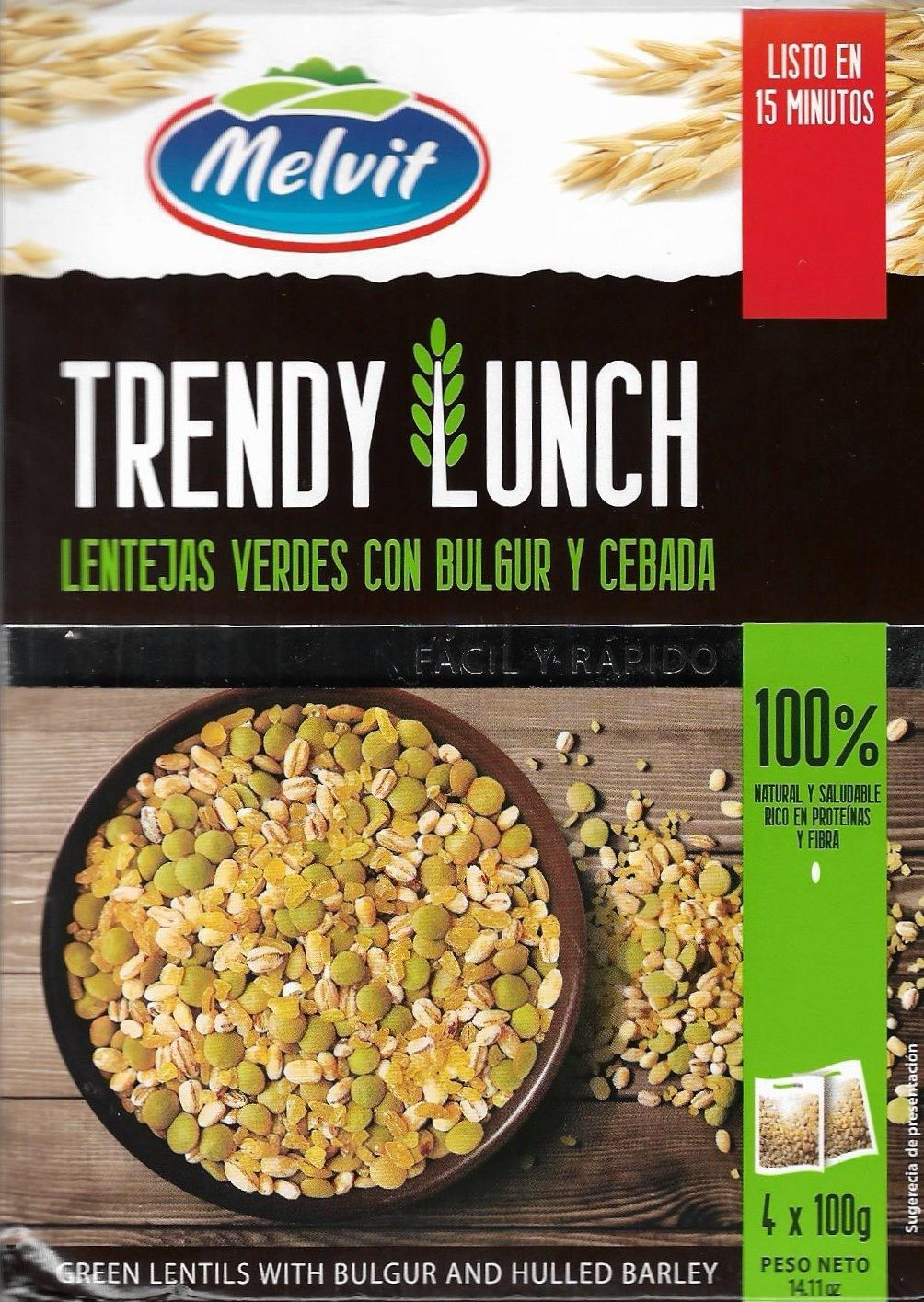 Trendy Lunch Lentejas verdes con bulgur y cebada - Producte