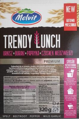 Trendy Lunch - Orkisz, Buraki, Papryka, Czosnek niedźwiedzi - Ingrédients - fr