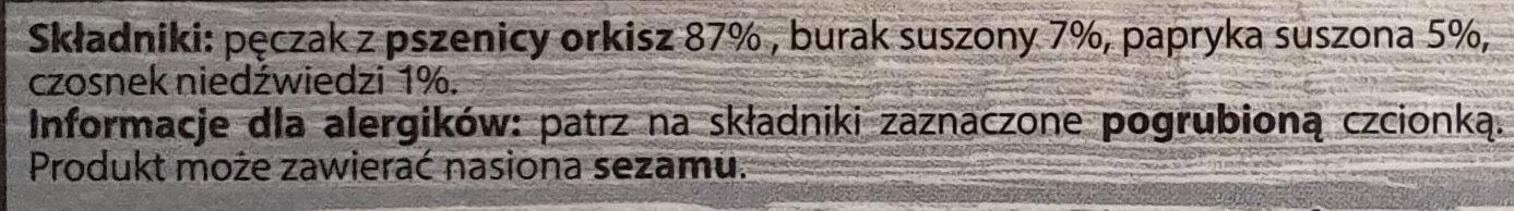 Trendy Lunch - Orkisz, Buraki, Papryka, Czosnek niedźwiedzi - Ingrediënten - pl
