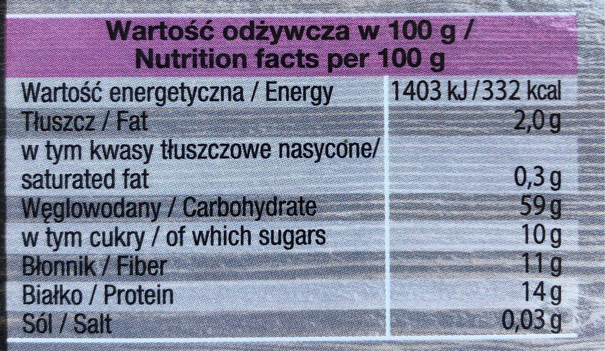 Trendy Lunch - Orkisz, Buraki, Papryka, Czosnek niedźwiedzi - Informations nutritionnelles - fr