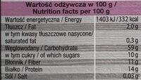 Trendy Lunch - Orkisz, Buraki, Papryka, Czosnek niedźwiedzi - Voedingswaarden - pl
