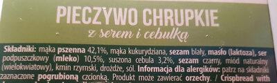 CRISPY PIECZYWO CHRUPKIE z serem i cebulką - Składniki