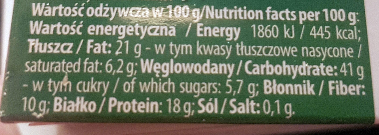 CRISPY PIECZYWO CHRUPKIE z serem i cebulką - Nutrition facts