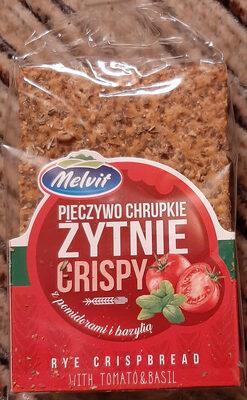 pieczywo chrupkie żytnie crispy z pomidorami i bazylią - Produit - pl
