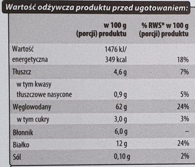 Natural Mix - Kasza gryczana biała, Bulgur, Oliwki - Informations nutritionnelles - pl
