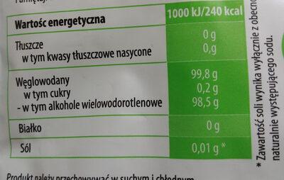 Cukier brzozowy - Wartości odżywcze