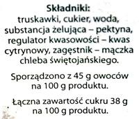 Dżem truskawkowy niskosłodzony - Ingredients - pl