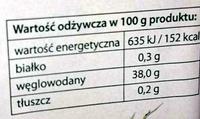 Dżem truskawkowy niskosłodzony - Wartości odżywcze
