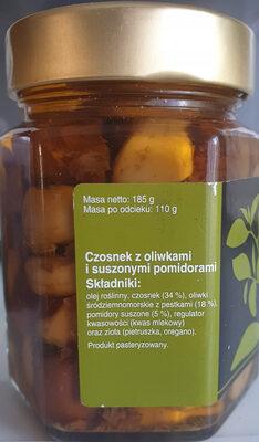 Czosnek z oliwkami i suszonymi pomidorami - Składniki - pl