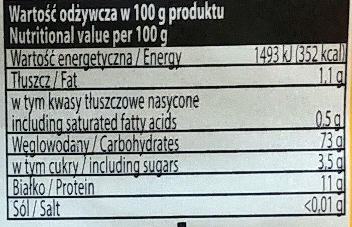 Makaron Staropolski - Wartości odżywcze - pl