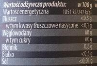 Dżem z pomarańczy - Nutrition facts - pl