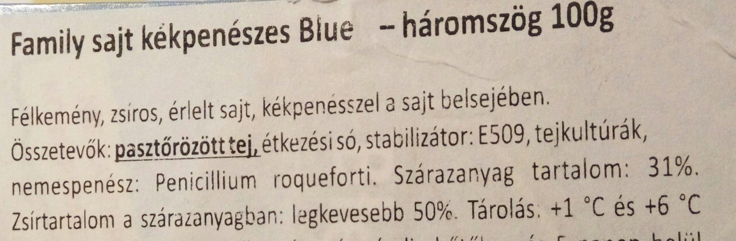 Family sajt kékpenészes Blue háromszög - Ingrédients - hu
