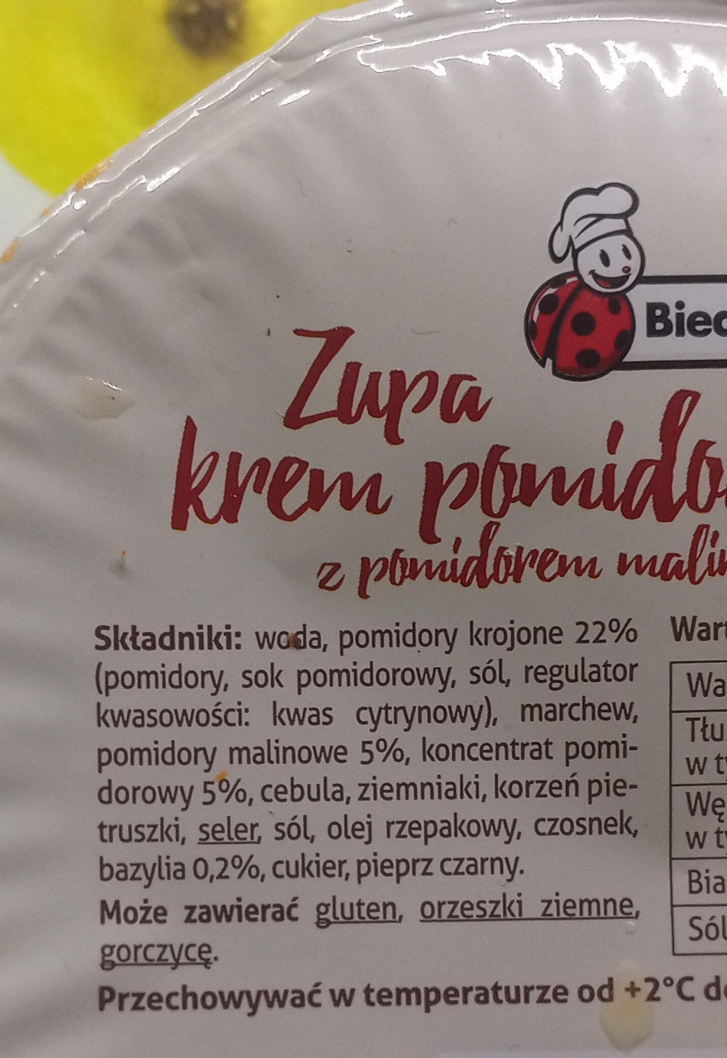 Zupa krem pomidorowy - Ingrédients - pl