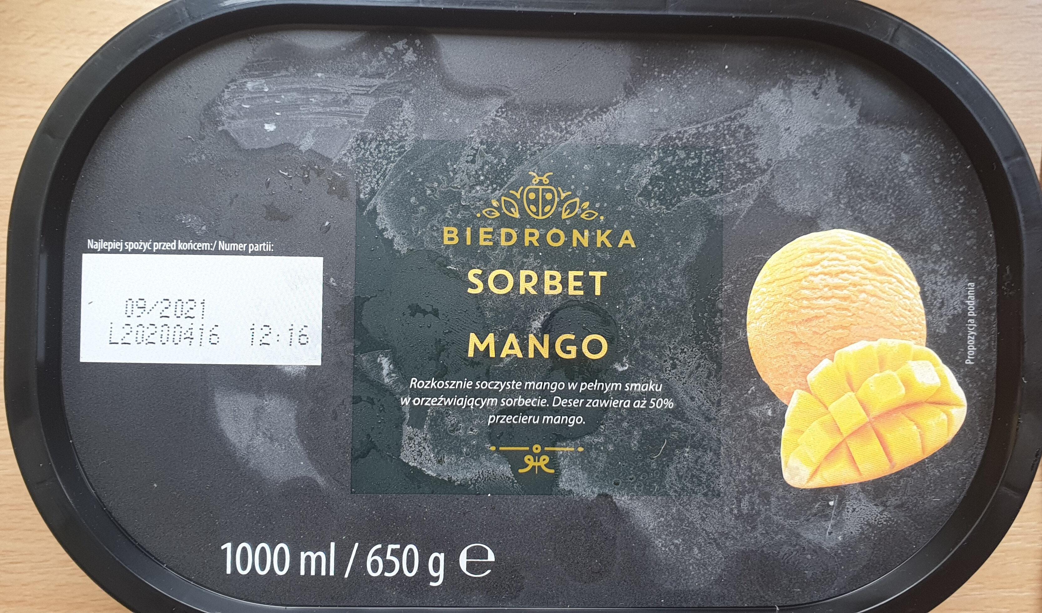 Sorbet mango - Produit - pl