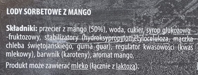 Sorbet mango - Ingrédients - pl
