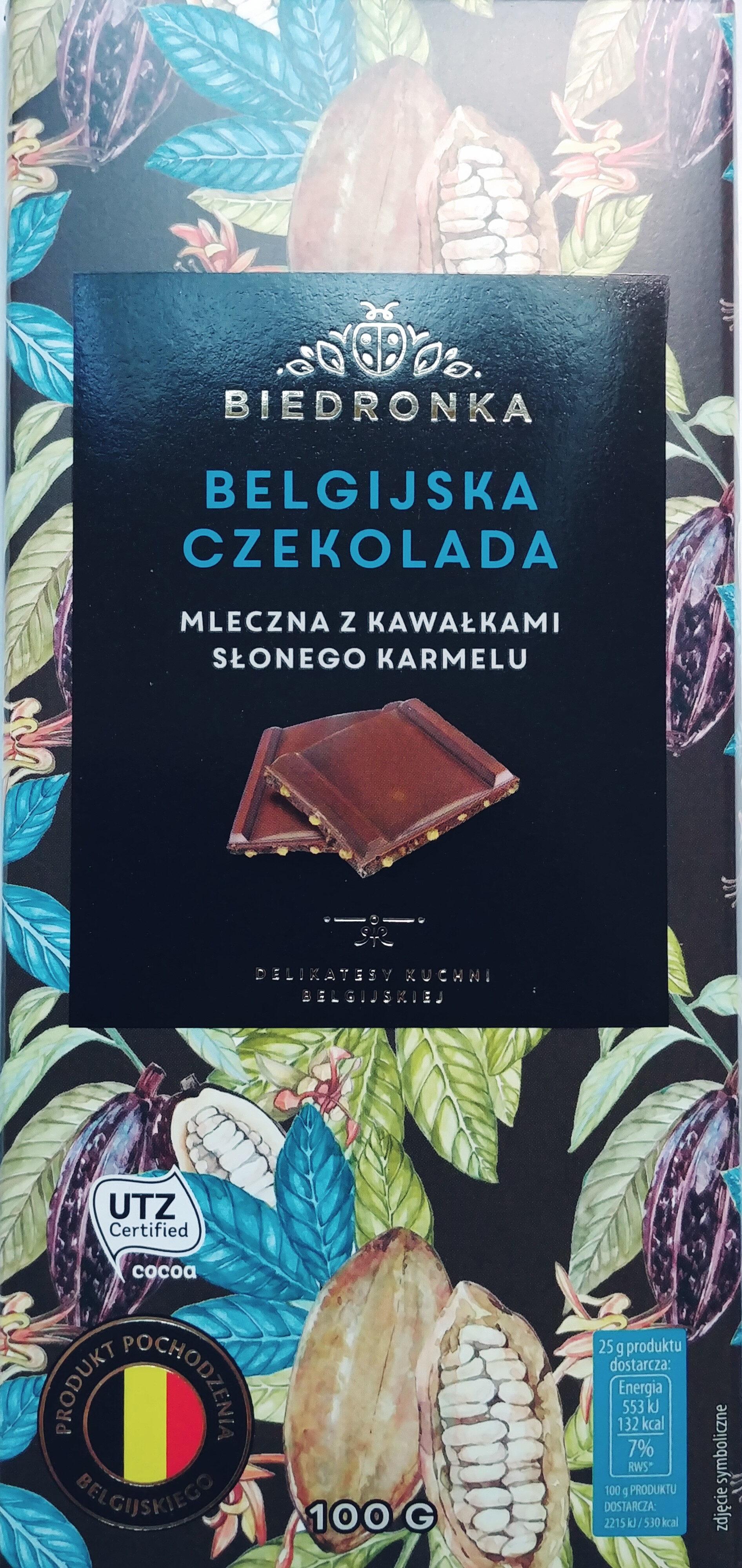 Belgijska czekolada mleczna z kawałkami słonego karmelu - Produkt