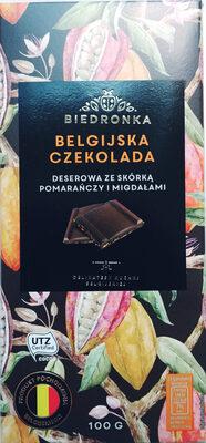 Belgijska czekolada deserowa ze skórką pomarańczy i migdałami. - Produkt - pl