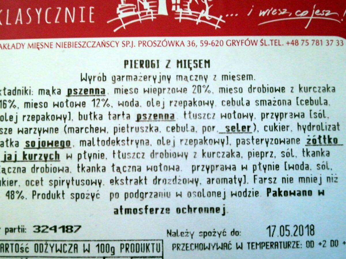 Pierogi - Składniki - pl