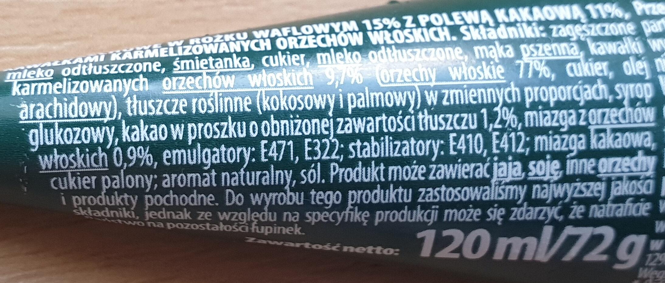 rożek o smaku orzecha włoskiego - Ingrédients - pl