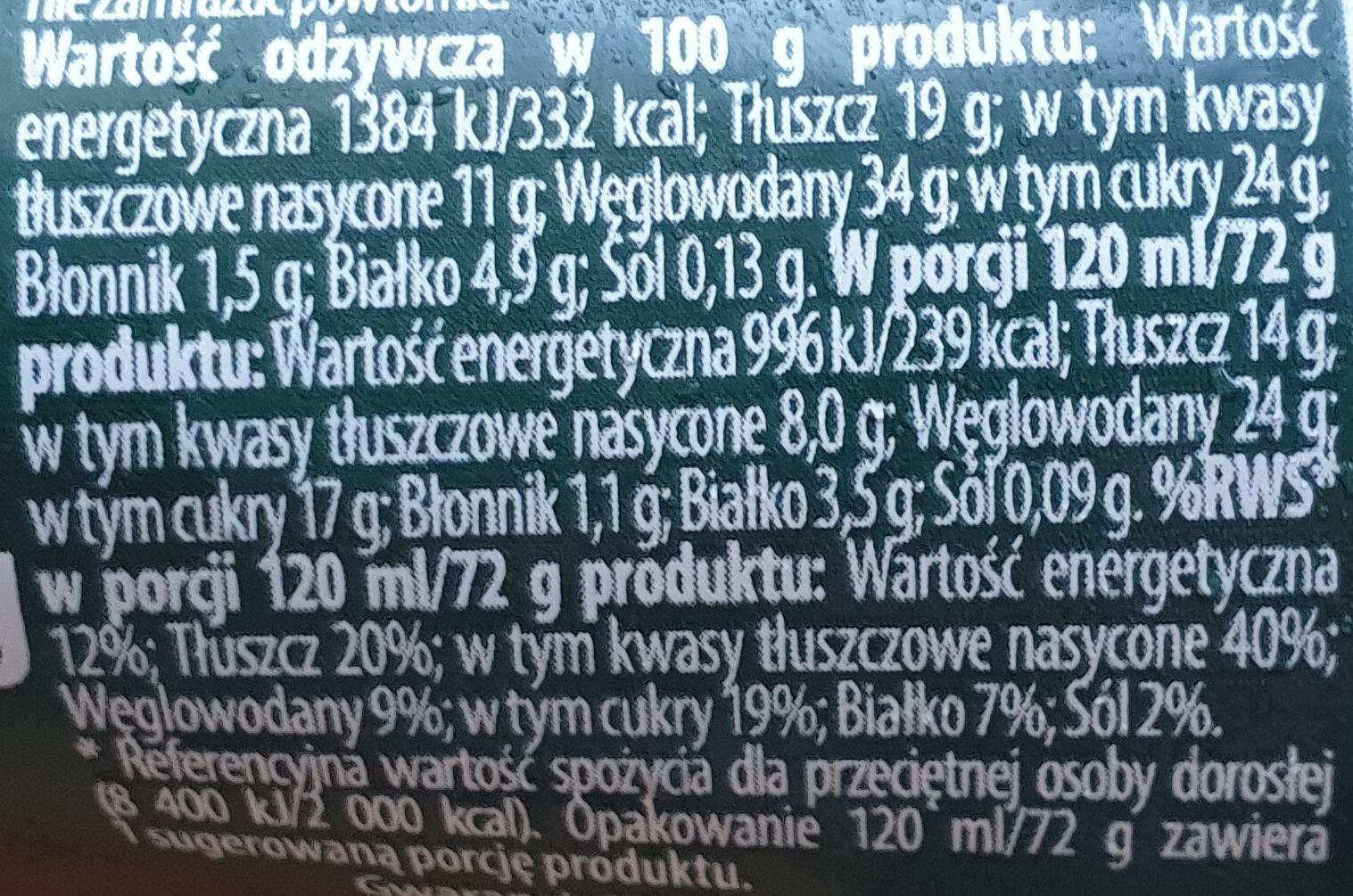 rożek o smaku orzecha włoskiego - Informations nutritionnelles - pl
