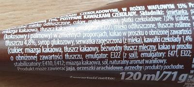 rożek z czekoladą - Ingrédients - pl